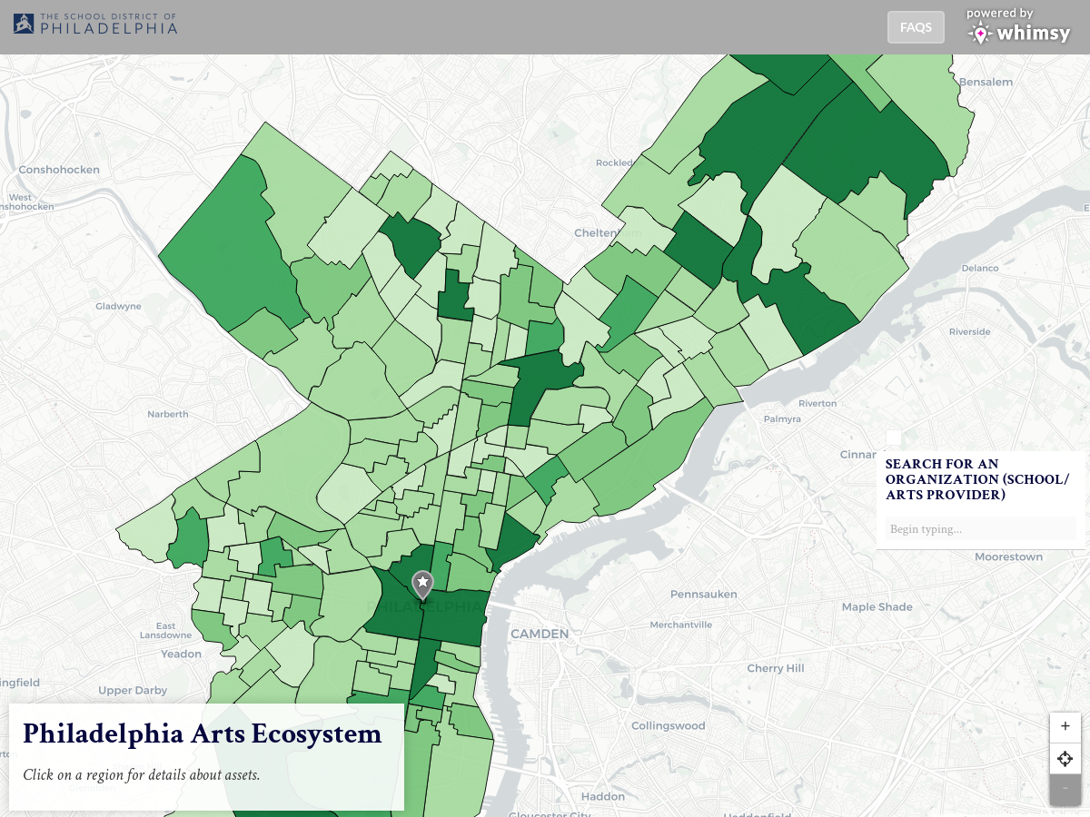 Philadelphia Arts Ecosystem - View the Map | Whimsy Maps